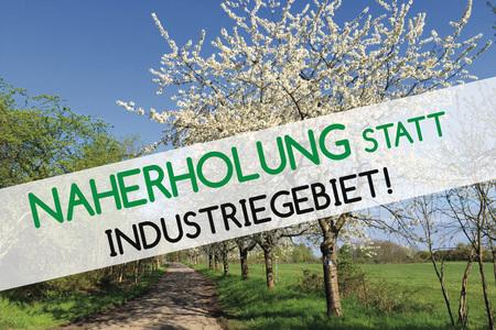 "NAHERHOLUNG STATT INDUSTRIEGEBIET – Für den Erhalt des Naherholungsgebiets ""Almet"""