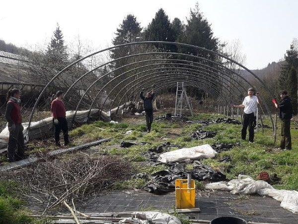 Ein neues Gewächshaus für die Solawi